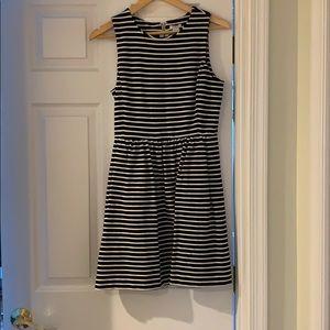 J Crew striped a line dress with pockets!